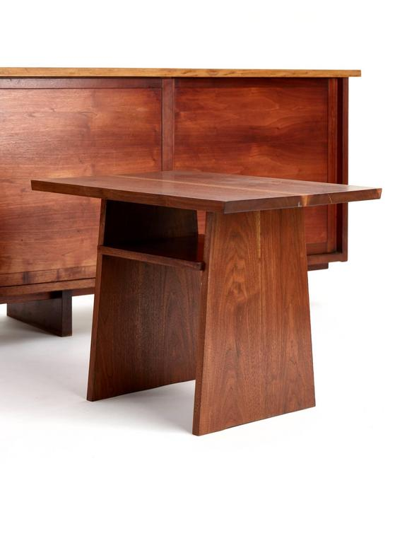 Mid-20th Century George Nakashima Walnut Cabinet, 1950s For Sale
