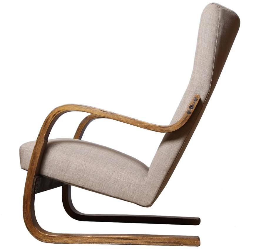 1930s Alvar Aalto Cantilevered High-Backed Chair, Finland