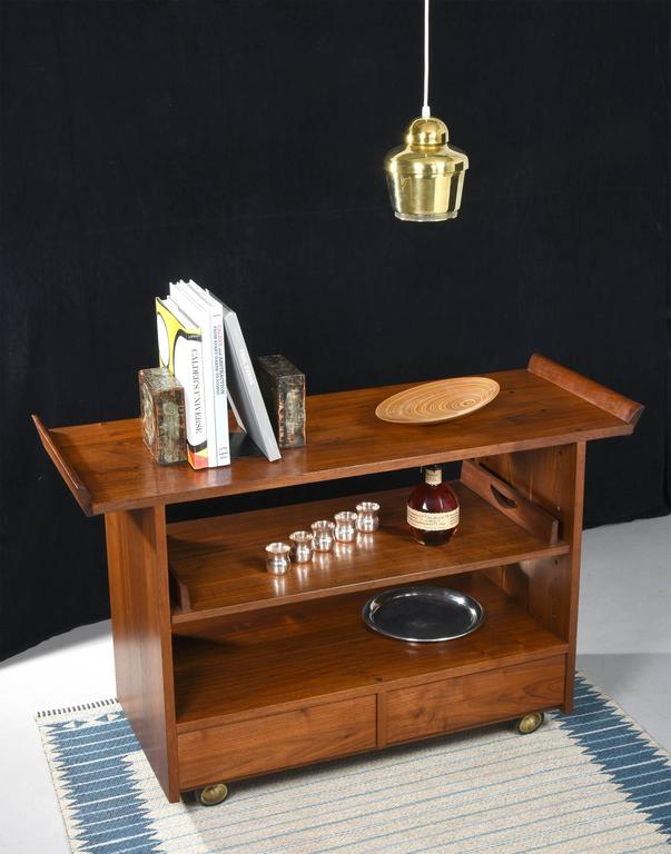 George Nakashima Tea or Bar Cart in Walnut, 1965 For Sale 2