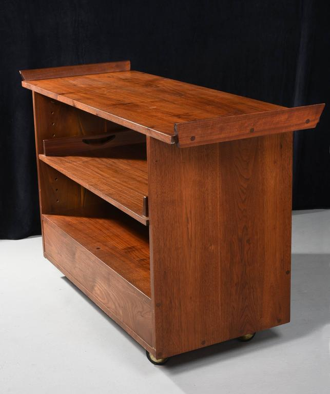 George Nakashima Studio rolling tea cart