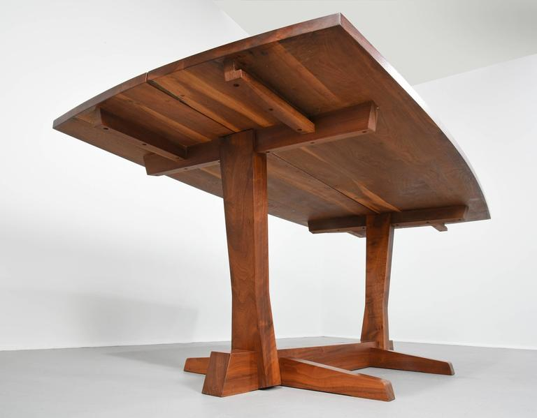 Early George Nakashima Walnut Conoid Dining Table With