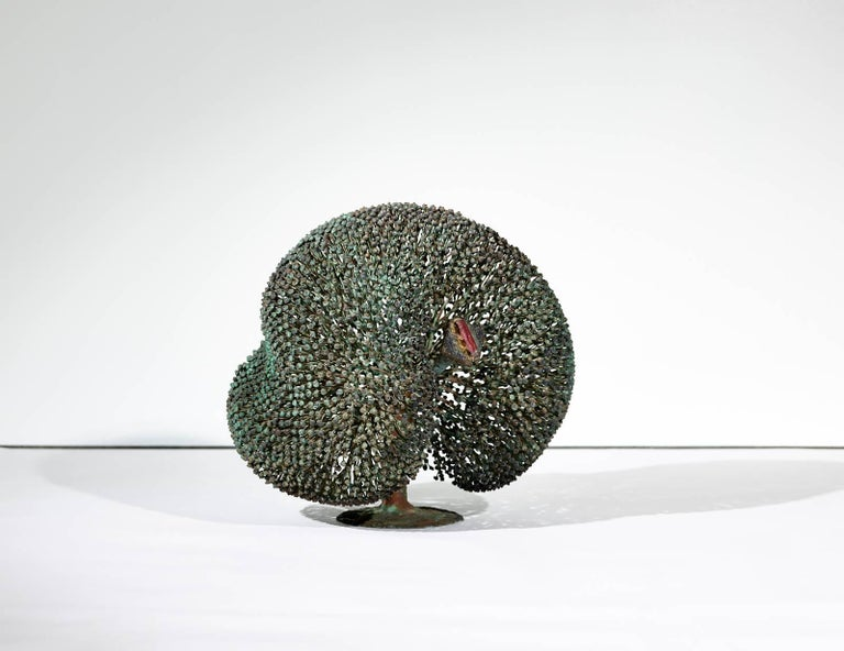 Bronze Large Harry Bertoia Bush Sculpture, 1973 For Sale