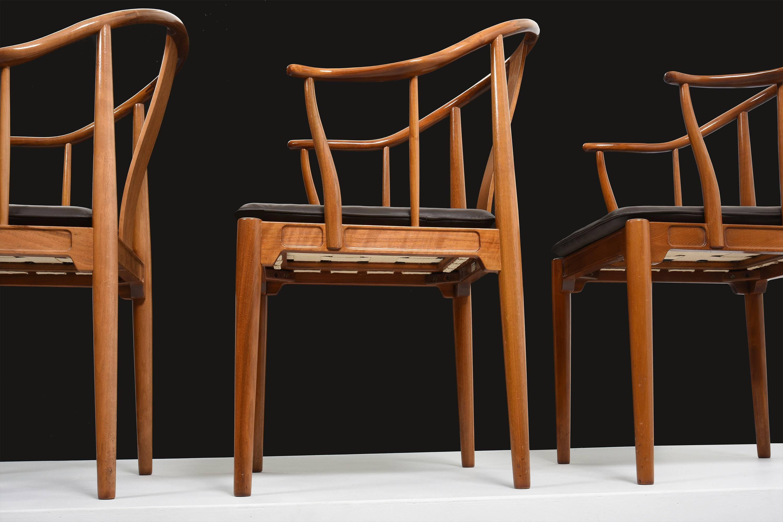 Scandinavian Modern Hans J. Wegner China Chairs For Fritz Hansen, Set Of  Four In