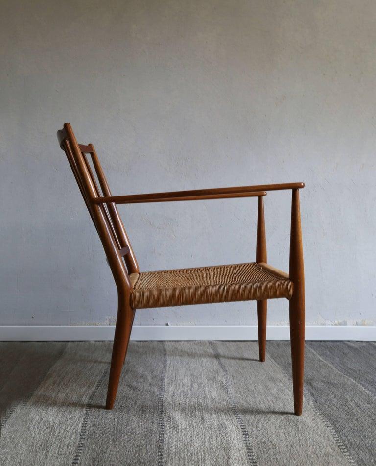Wicker Josef Frank Armchair, 1950s For Sale