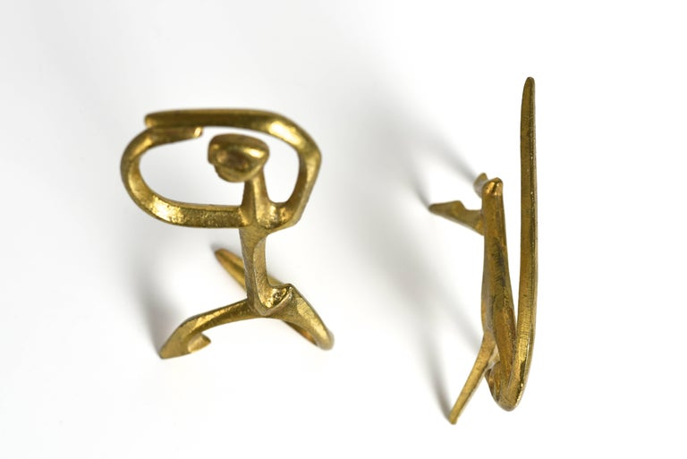 Frederic Weinberg Modernist Bronze Sculptures, 1950s In Excellent Condition For Sale In Houston, TX