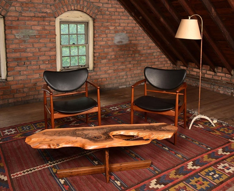 Finn Juhl by Niels Vodder, Pair of Armchairs, Model NV48 For Sale 5