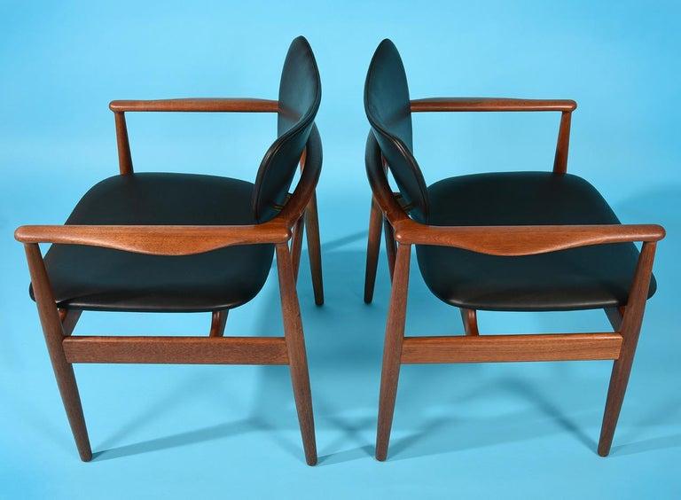 Danish Finn Juhl by Niels Vodder, Pair of Armchairs, Model NV48 For Sale