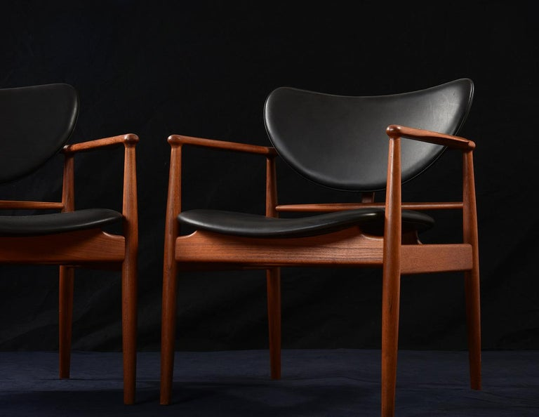 Mid-20th Century Finn Juhl by Niels Vodder, Pair of Armchairs, Model NV48 For Sale
