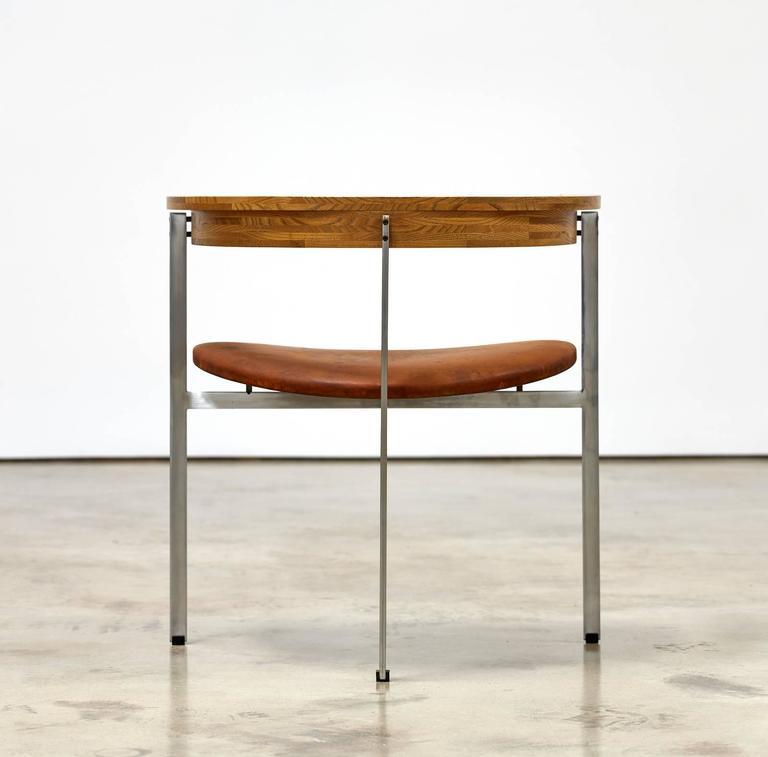 Six Poul Kjaerholm PK 11 Chairs, Original Condition, 1957 For Sale 2