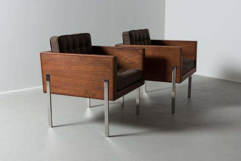 Exceptionnel Mid Century Modern Pair Of Harvey Probber Cube Chairs, 1960s For Sale