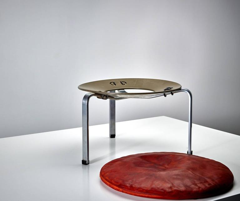 Poul Kjærholm PK 33 Stool for E. Kold Christensen, Original Condition, 1959 3