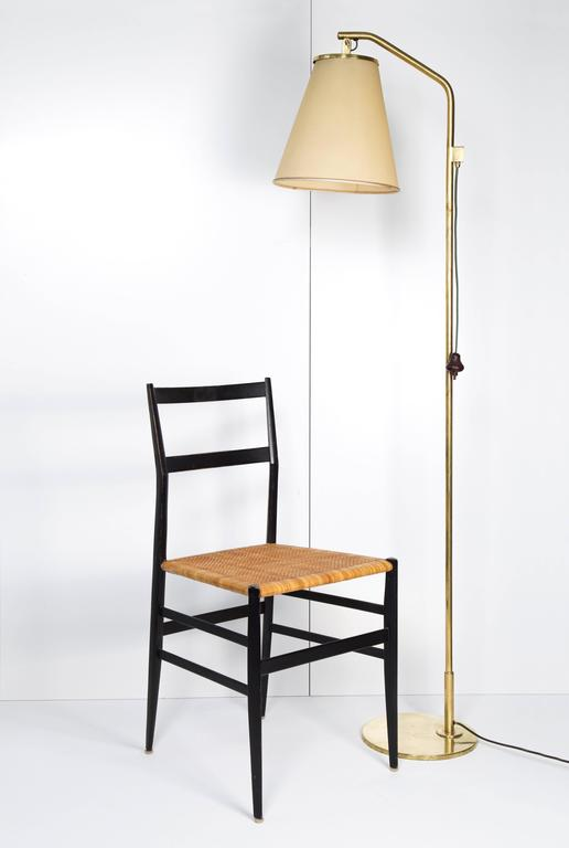 Scandinavian Modern Paavo Tynell Floor Lamp Model 9613, Taito Oy, 1940s For Sale