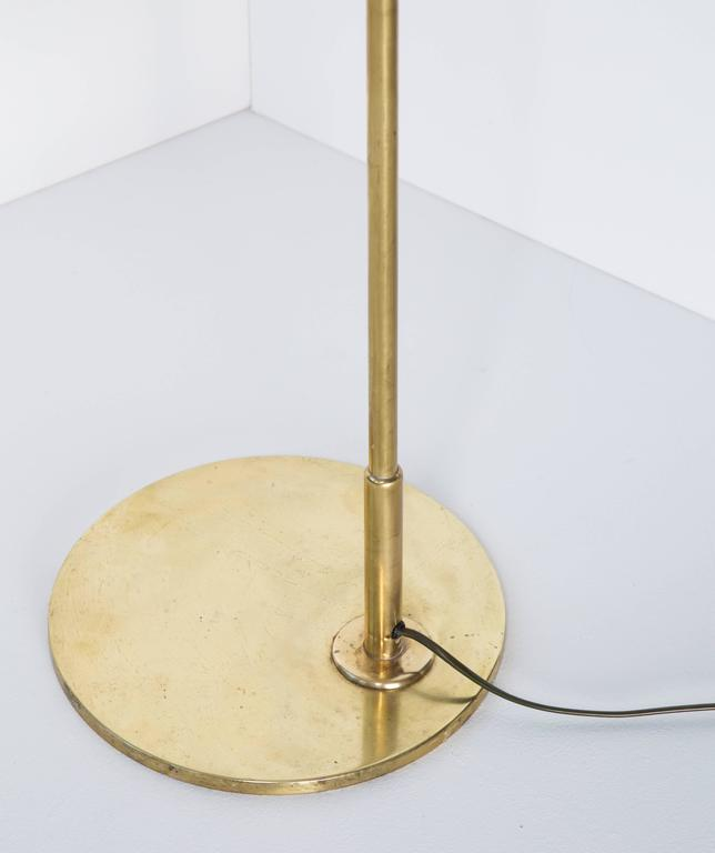 Brass Paavo Tynell Floor Lamp Model 9613, Taito Oy, 1940s For Sale