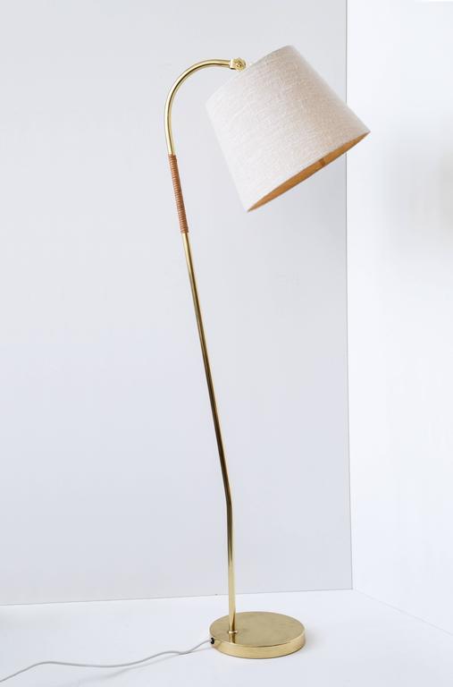 Scandinavian Modern Paavo Tynell Floor Lamp, Idman Oy, 1950s For Sale