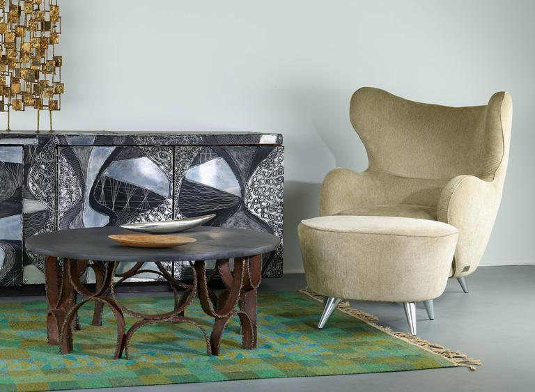 Paul Evans Studio Coffee Table with Slate Top circa 1960s In Excellent Condition For Sale In Houston, TX