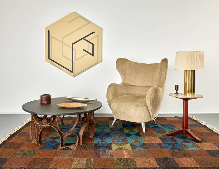 Steel Paul Evans Studio Coffee Table with Slate Top circa 1960s For Sale