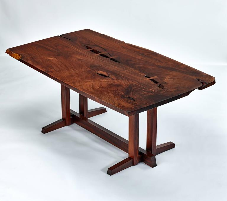 Amazing Special Commission Masterwork George Nakashima Table, All Parts Rosewood.  New Hope, PA,