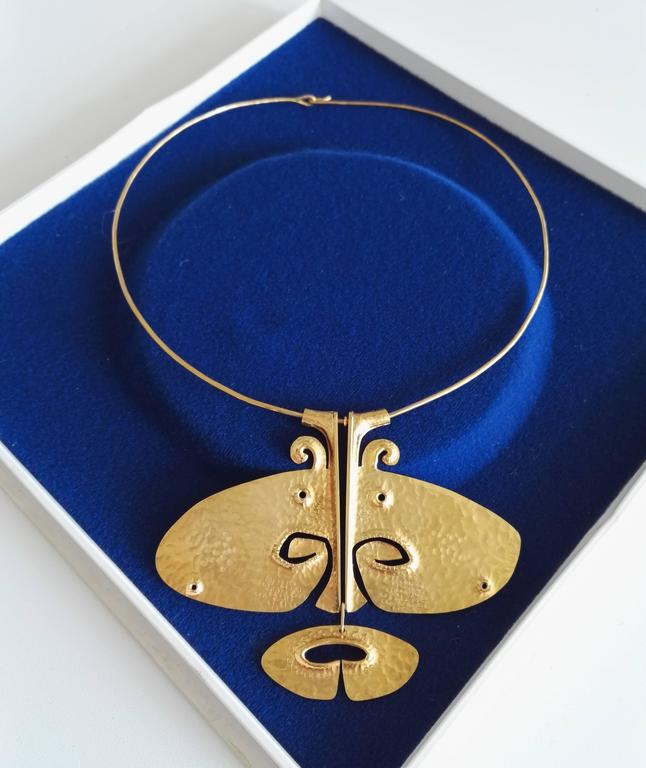 Finnish Tapio Wirkkala 14 kt Gold Pendant-Necklace