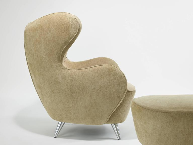 Vladimir Kagan Wing Chair and Ottoman 4