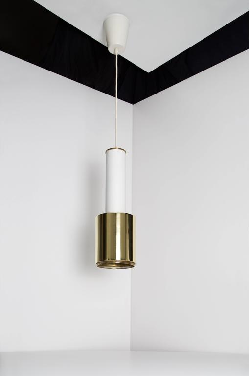 Painted Early Alvar Aalto Pendant Light, Model A110, 1950s For Sale