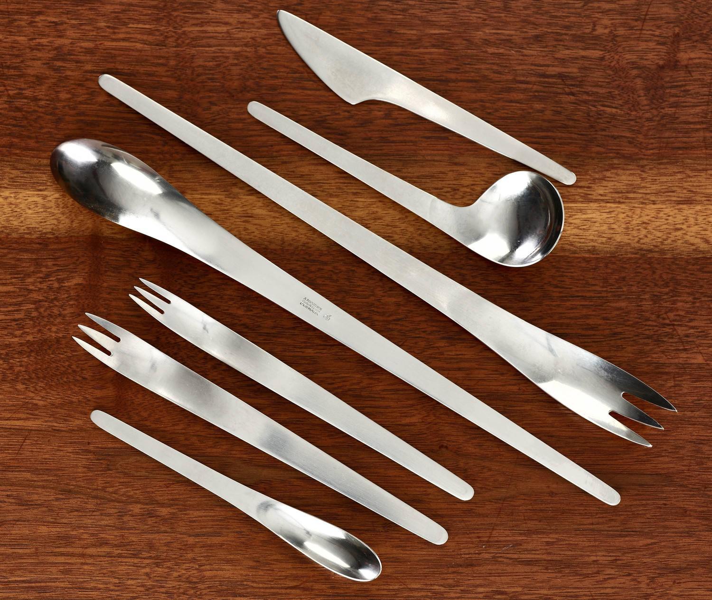 Arne jacobsen aj flatware aton michelsen 86 pieces for sale at 1stdibs - Arne jacobsen flatware ...