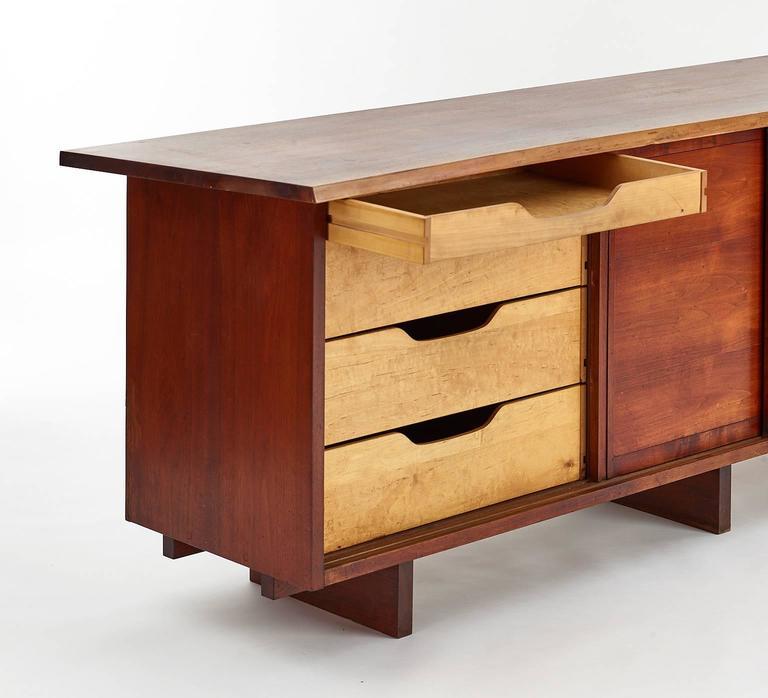 George Nakashima Walnut Cabinet, 1950s For Sale 1