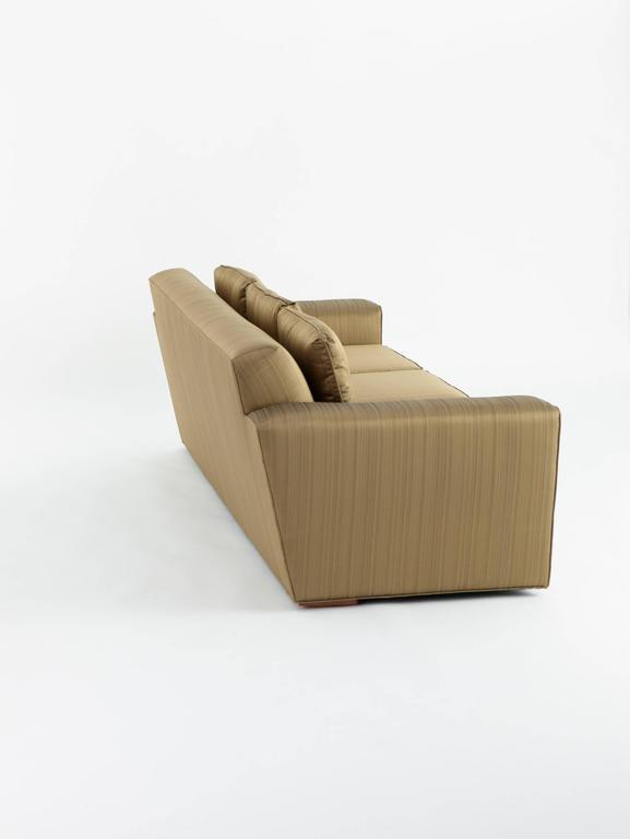 American Paul Frankl Custom Sofa, Pair Available, 1940s For Sale