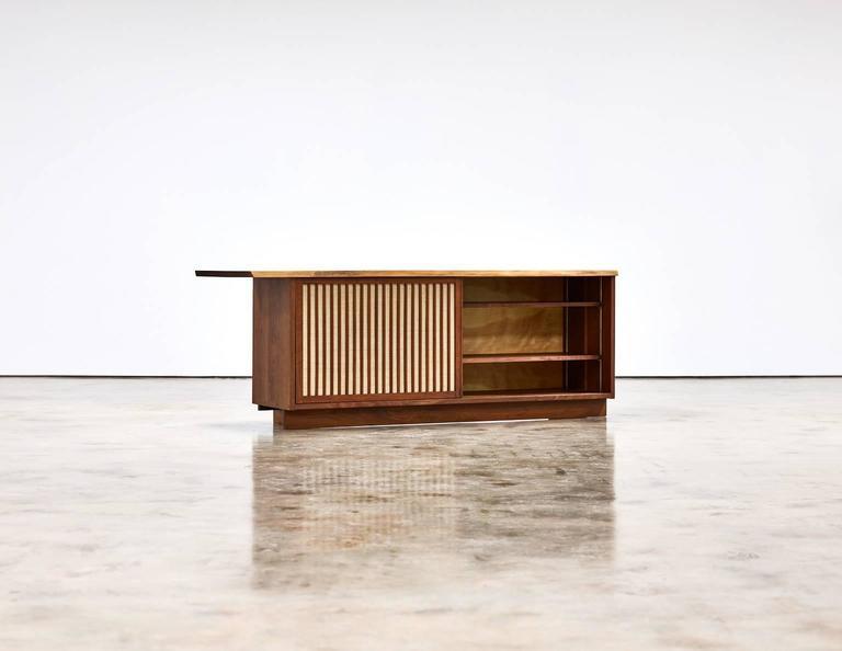 George Nakashima Two-Door Walnut Cabinet, 1960s 1