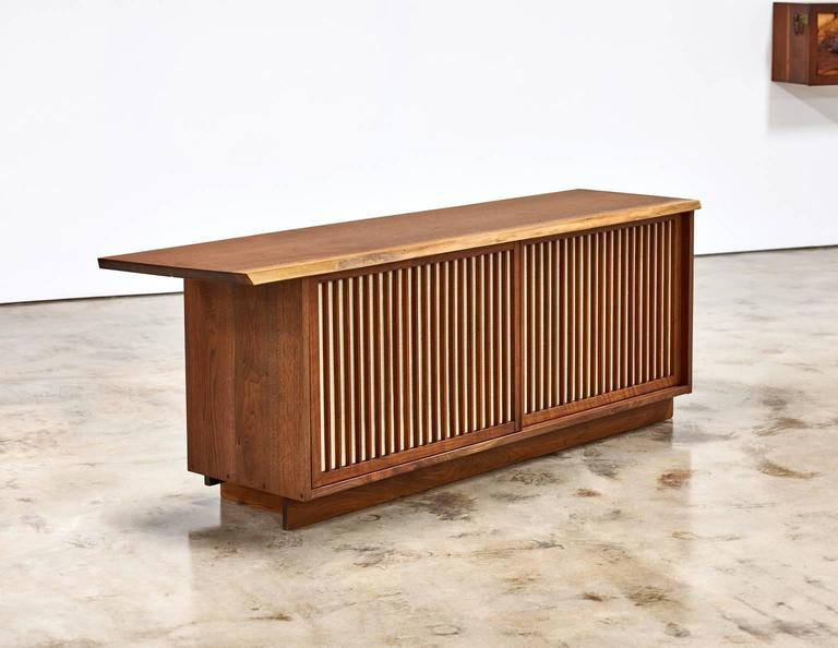 George Nakashima Two-Door Walnut Cabinet, 1960s In Good Condition In Houston, TX