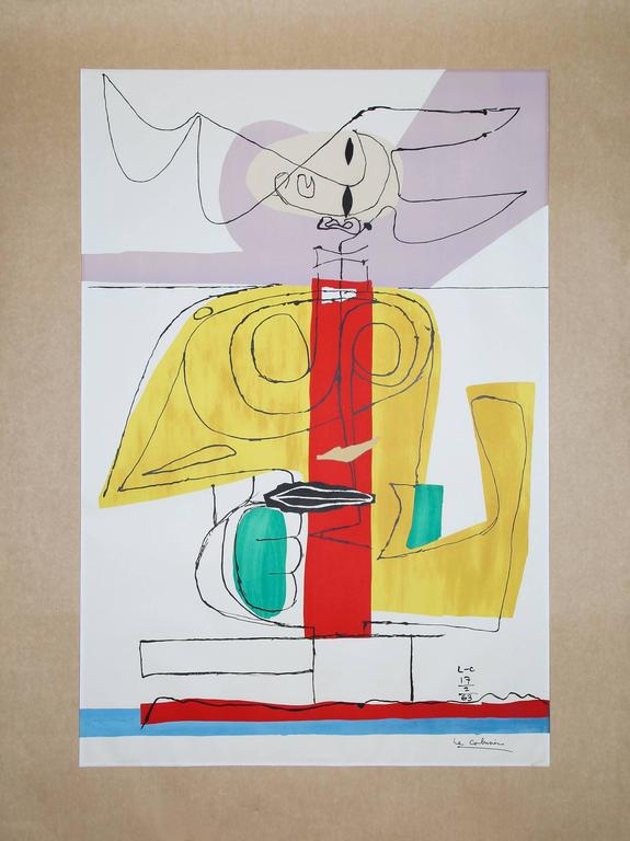 Le corbusier large lithograph taureau 39 le taureau 39 1963 f - Decoration le corbusier ...