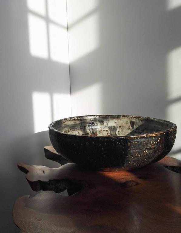 Mid-20th Century Carl-Harry Stålhane, Unique Large Bowl, Rörstrand Ateljé, Sweden, circa 1960 For Sale