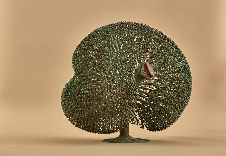 Mid-Century Modern Large Harry Bertoia Bush Sculpture, 1973 For Sale