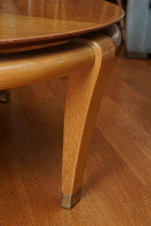 Mid century satinwood cocktail table at 1stdibs for Furniture 08054