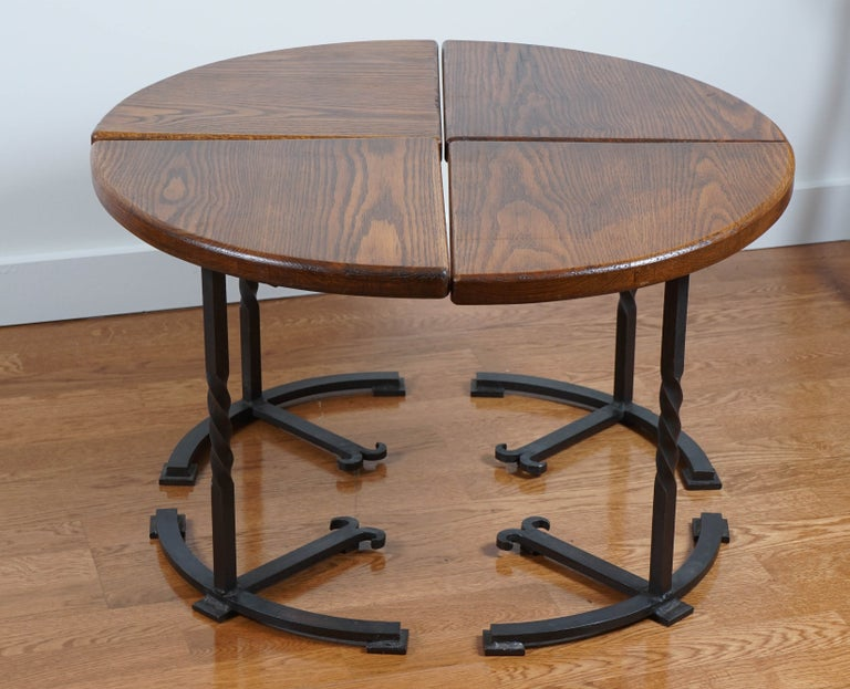 Four-Part Circular Table For Sale