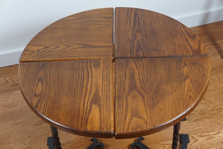 American Four-Part Circular Table For Sale