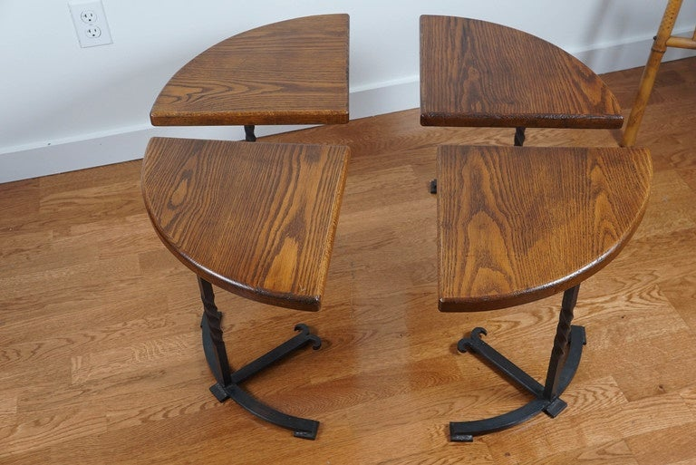 Four-Part Circular Table In Good Condition For Sale In Hudson, NY