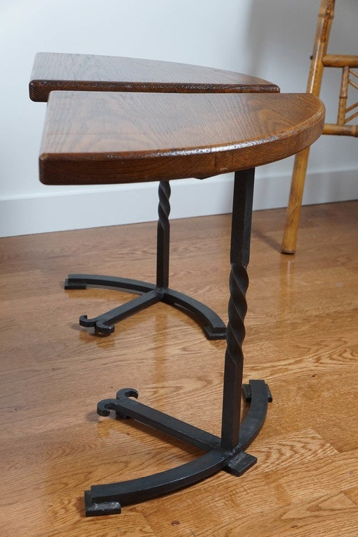 Mid-20th Century Four-Part Circular Table For Sale