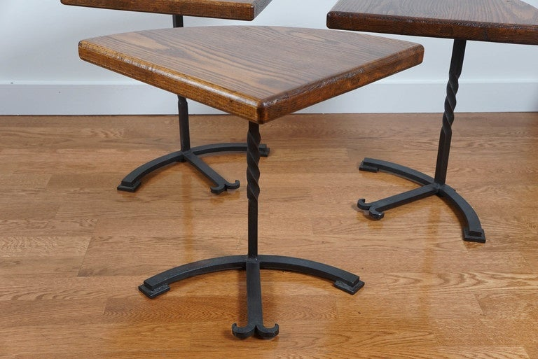 Iron Four-Part Circular Table For Sale