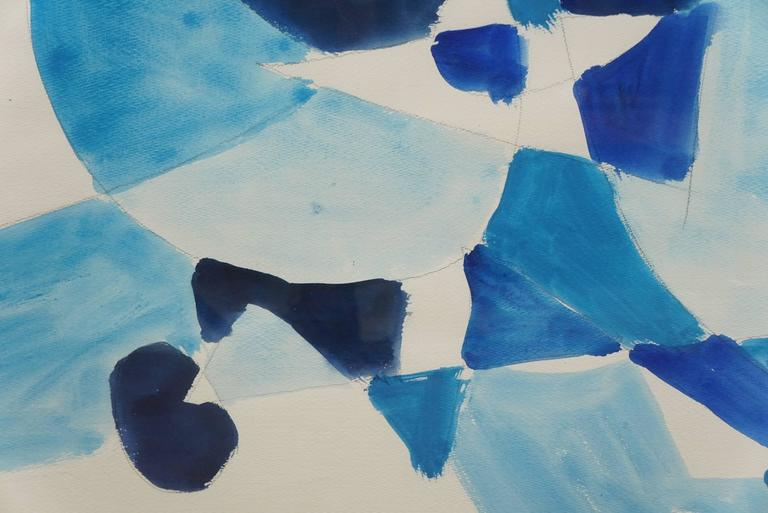 Contemporary Untitled 'Abstract in Blue' For Sale