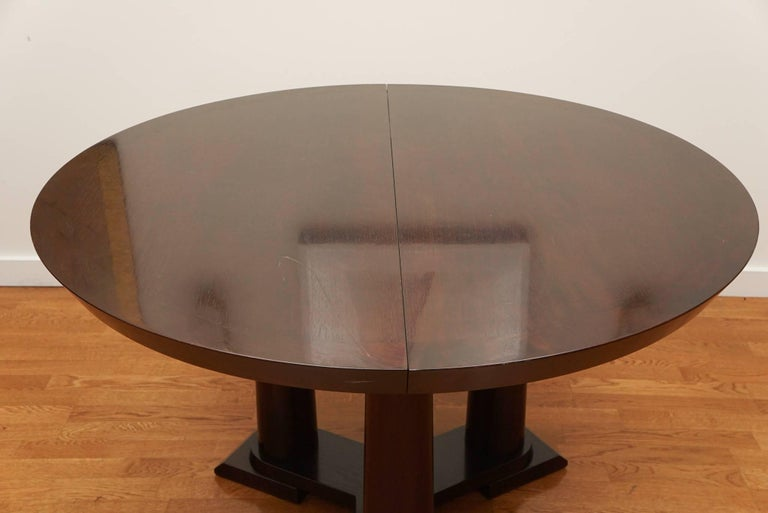 Veneer Contemporary Extension Dining Table For Sale