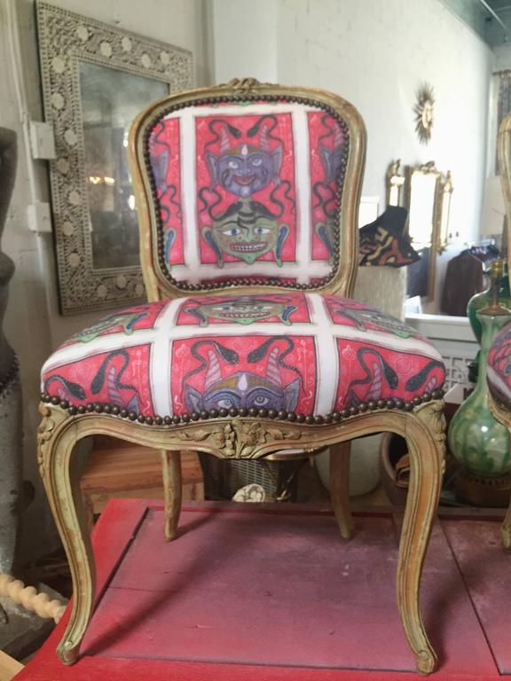 Louis XV Upholstered Dining Side Chairs 2