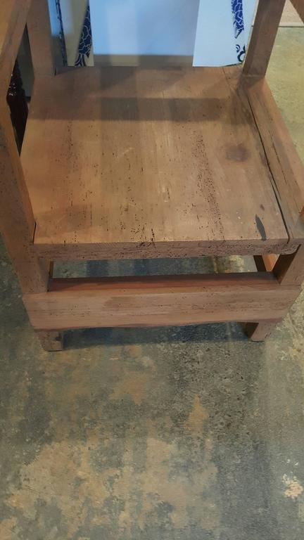 Pair of Vintage Colonial-Style Mexican Hall Chairs 2