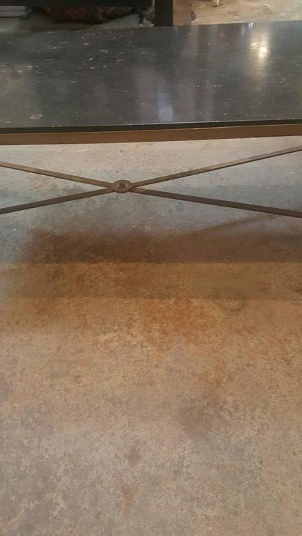 1940s French Granite and Brass Cocktail Table 2