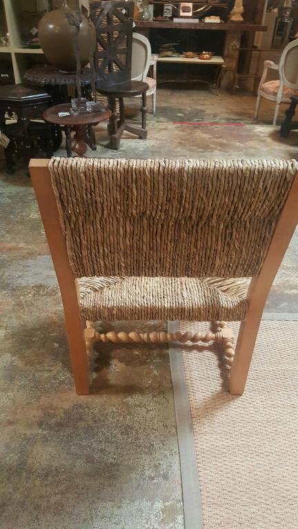 Vintage Spanish Rush Armchair 2