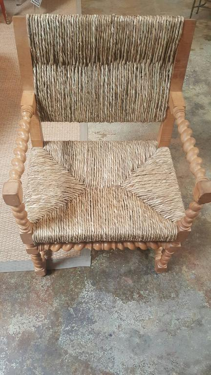Vintage Spanish Rush Armchair 3