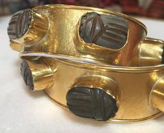 Rock Candy Cuffs with Jade Scarabs