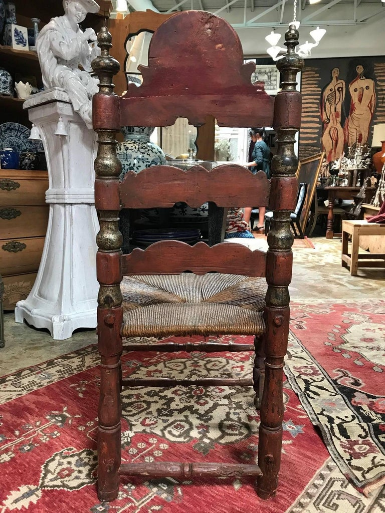 19th Century Painted Spanish Baroque Side Chairs, Set of Four For Sale 12