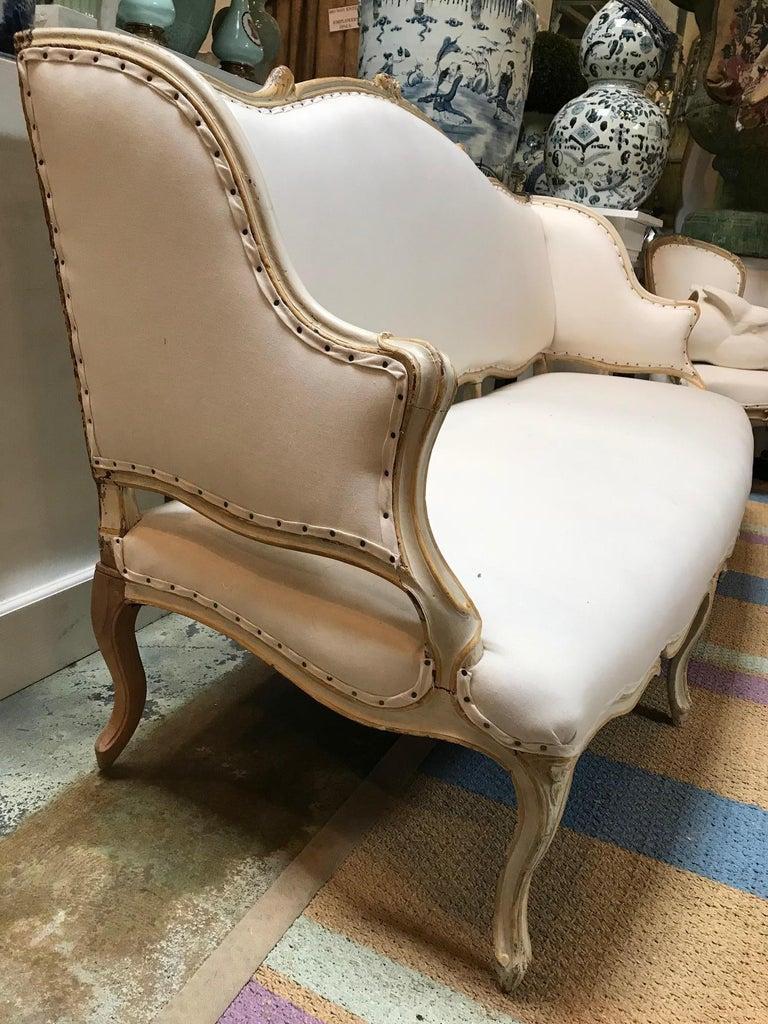 19th Century Italian Rococo Sofa For Sale 2