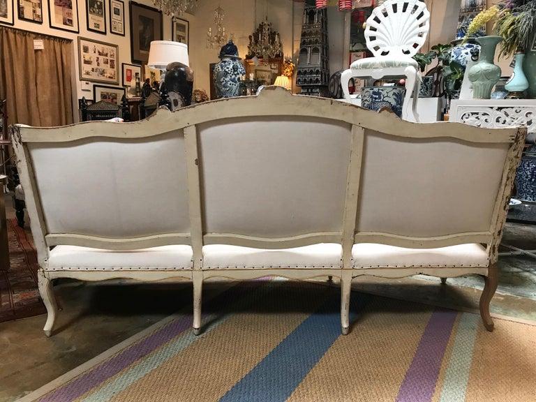 19th Century Italian Rococo Sofa For Sale 4