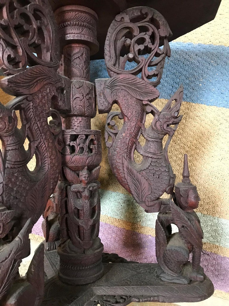 Indo-Chinese 19th Century Carved Table For Sale 2